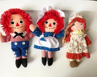 Hollie Hobbie Carrie and Playskool Raggedy Ann & Andy Dolls