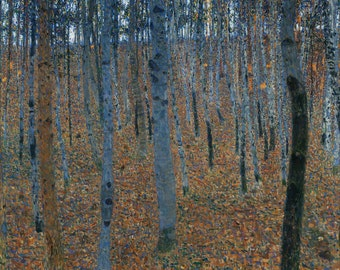 Beech Grove by Gustav Klimt, various sizes, Giclee Canvas Print