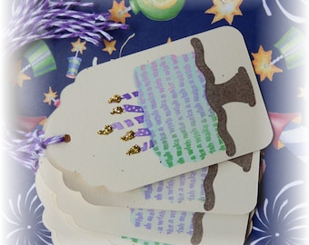 Make a Wish - Happy Birthday- Cake -Tags (6)