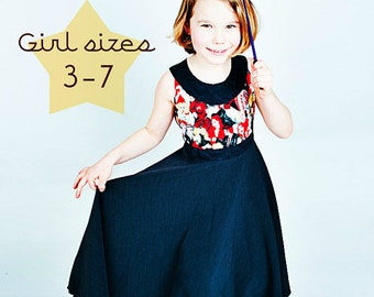 INSTANT DOWNLOAD Girls Dress PDF Sewing Pattern Revolutions Frock by Little Print Designs