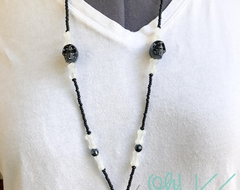 Necklace - Skull and Bones necklace/lanyard