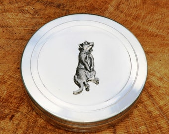 Meerkat Trinket Box English Pewter Ladies Gift