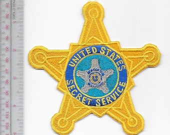 US Secret Service USSS Special Agent Gold Star Service Agent Patch