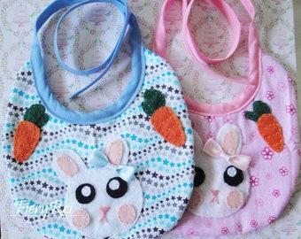 Baby Bib, Bunny Bib, Cute Baby Bib, Bib, Baby, Bunny, Handmade, Handmade Baby Bib,