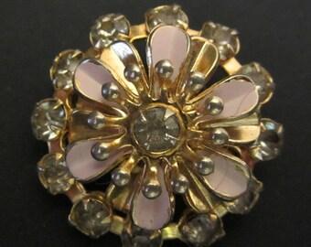 Flower Pin Rhinestone Pin Vintage Pin Vintage Flower Pin Vintage Rhinestone Pin Vintage Flower Brooch Vintage Rhinestone Brooch