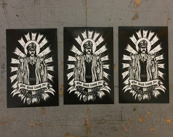 3 pack of What would Lemmy Do Stickers by Seven 13 Productions Motorhead Ace of Spades Iron Horse Kilmister War Pig Killed by Death