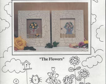 """Clearance - """"The Flowers"""" Counted Cross Stitch Chart by Mosey 'n Me"""
