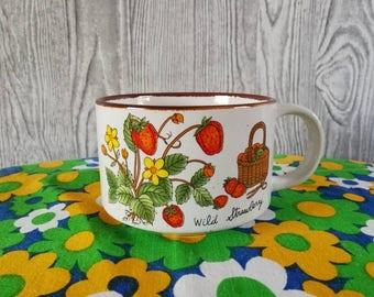 Soup bowl ' Wild Strawberry '