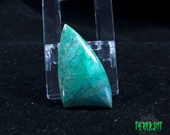 Chrysocolla Quartz Cabochon/Chrysocolla Quartz/Gemstone/Blue/Drilled Cabochon/Chrysocolla Cabochon/Gem Silica/Chrysocolla Cab/Natural Stone