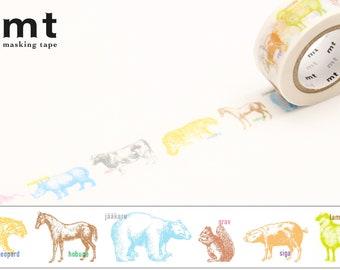 20mm width | MT EX - Animals Washi Masking Tape