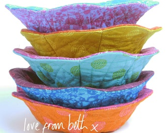 Reversible Trinket Bowls Sewing Pattern