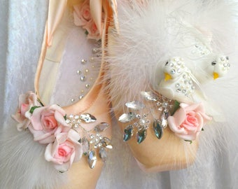 Decorated new Pointe Ballet Shoes
