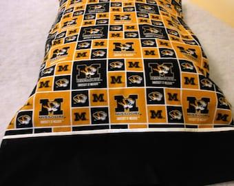 Pillow Case Mizzou Standard Size