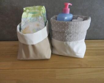 Storage basket in fabric/baby storage basket