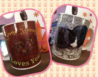 Personalised Photo Mug - Some Bunny Loves You