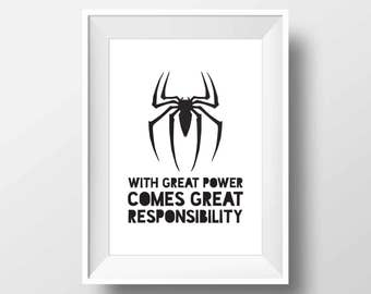 Spiderman Poster, Spiderman Print, Superheroes poster, Marvel print, Marvel comics, Spiderman Wall Art, Superhero Artwork, Heroes Printable