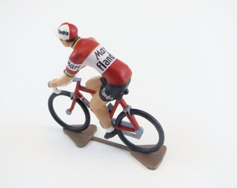 Flandria Mars 1971 De Vlaeminck - Handcrafted French Metal Cycling Figure & Gif Box - Roger De Vlaeminck 1971 Tour De France