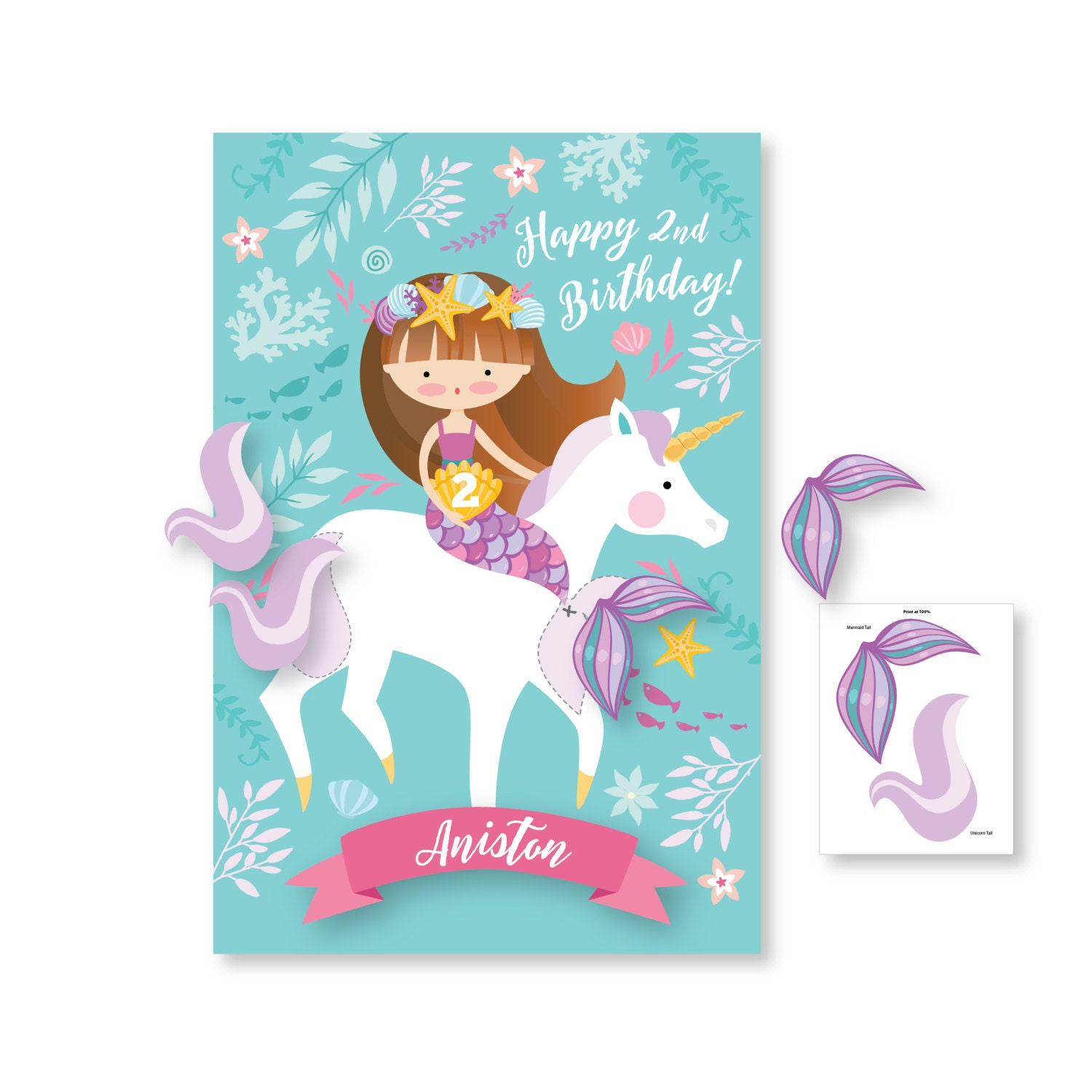 Birthday Party Games Are Hilarious For 8 9 10 11 And 12: Pin The Tail On The Mermaid And Unicorn / Party Game