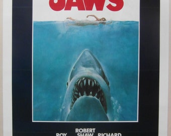 Original 1975 US 1 Sheet for the Movie 'Jaws'