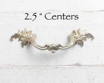 """French Provincial Drawer Pull  2.5"""" Centers , Ornate Furniture Handles ,"""
