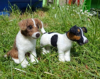 Needle felted dog sculpture. Small breed dogs
