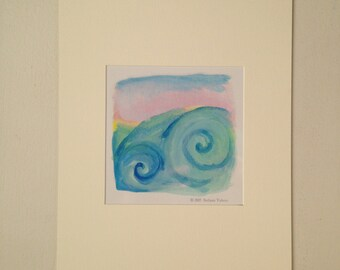 Ocean Swirl Matted Print