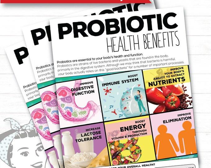 Probiotic Health Benefits Flyer