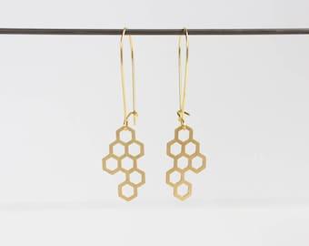 Honeycomb Earrings | Small | ATL-E-138