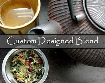 CUSTOM BLEND | Custom Tea or Herbal Infusion | Personalized Blend | Organic | Tea Bags | Loose Leaf | Tea Tin | Eco-Friendly