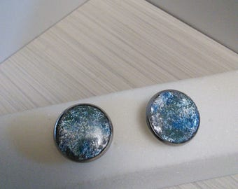 Sparkling Colorful Studs, Polymer Clay Resin Coated Studs....more to come!!!perfect Mothers Day Gift!