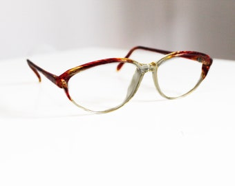 Vintage glasses. 80's. Cat eye style. Made in Europe