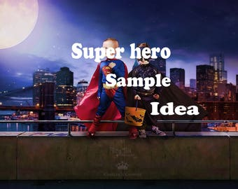 Super Hero Digital Background Superhero Digital Backdrop jpeg file