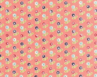 Vintage Picnic Rosie Coral by Bonnie and Camille from Moda -1 yard