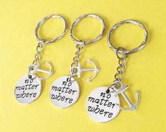 SET OF 3 Friendship keychain - set of three Keychain, set of 3 best friend,set of 3 keychain, keychain, Friendship Distance Gift