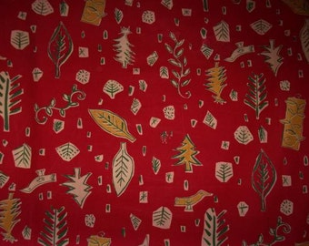 A vintage fabric from the 50/60s, trees, stars, Christmas