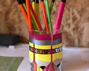 Teacher appreciation pencil holder personalized ~ custom gift ~ appreciation week ~ gift idea ~ office ~