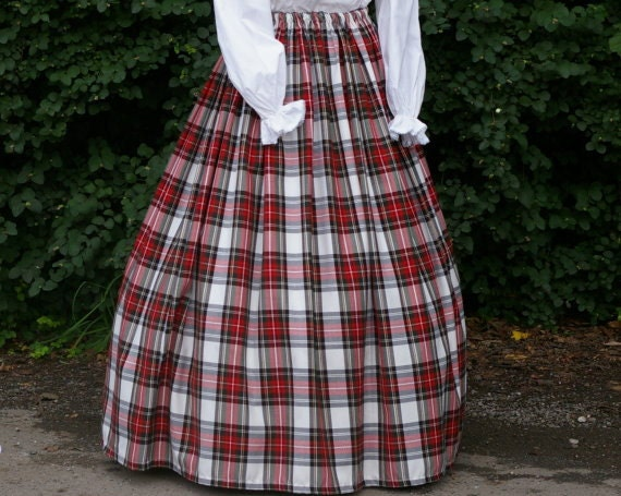 Victorian Skirts | Bustle, Walking, Edwardian Skirts Ladies Victorian / Edwardian costume SKIRT gentry / ball gown fancy dress Sizes 6-32 Dress Stewart tartan $41.00 AT vintagedancer.com