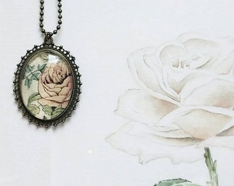 Pendant with pink watercolor