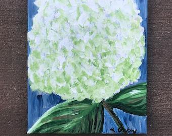 Green Hydrangea Original Painting