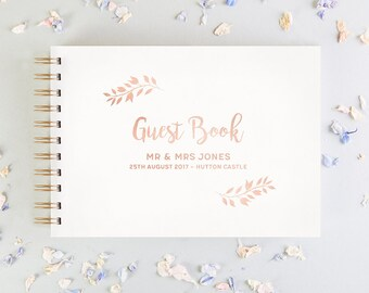 Foil Wedding Guest Book
