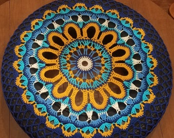 Sunflower Crochet Spare Tire Cover