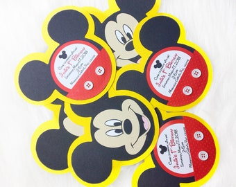 Mickey Mouse invitations- Set of 8