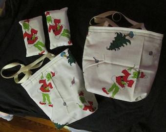 Grinch Mini Tote Bag Set