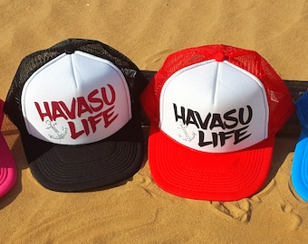 Havasu Life Trucker Hat, Lake Havasu Hat, River Lake Summer Trucker Hat Women's Trucker Hat Glitter Drinking Alcohol Party Hat