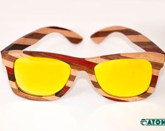 Stripes Style - Bamboo Sunglasses
