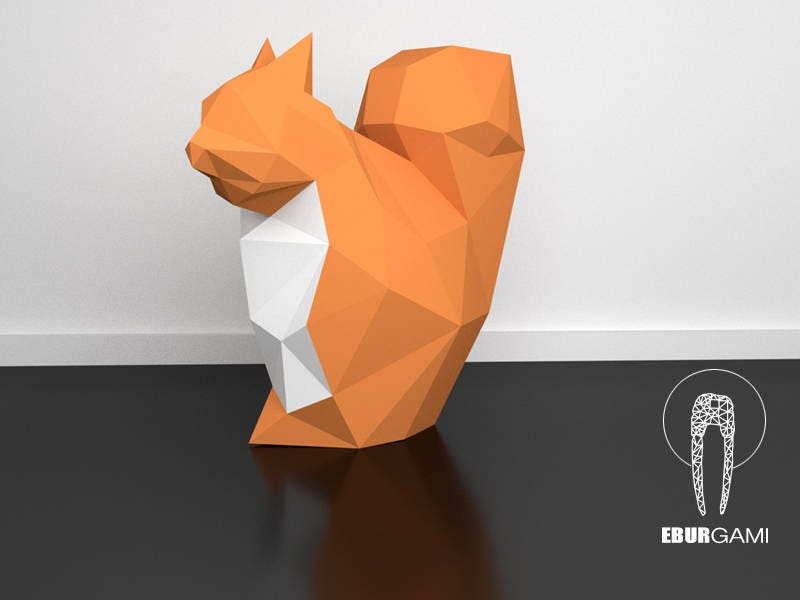 3d papercraft squirrel 3d pdf template papercraft animals zoom pronofoot35fo Gallery
