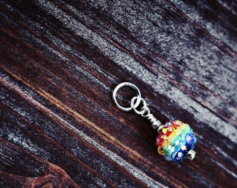 Somewhere Over The Rainbow - Wizard of Oz Inspired - Knit/Knitting or Crochet - Individual Stitch Marker or Place Holder