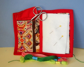 Indian Maiden Needle Book, Needle Case, Hand Sewing Organizer