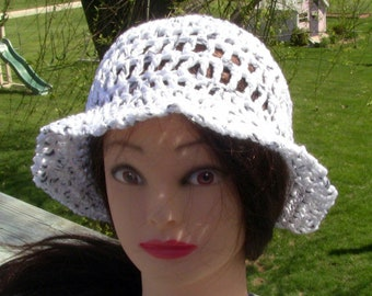 Sun Hat, Summer Beanie, Cotton Sun Hat, Beach Hat, White Cotton Beanie, White Cotton Hat, White Beach Hat