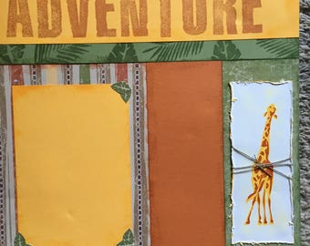 Adventure - 12 x 12 Premade Scrapbook Pages